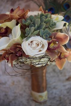 Eye Candy {Peacock and Autumn Inspired Bridal Bouquet} | Heavenly Blooms