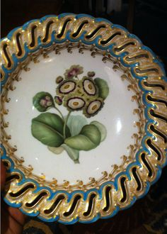 A COLORFUL MINTON DESSERT SERVICE CA 1850 — EXQUISITE FLOWERS, TAZZA SHAPES, AND COLOR