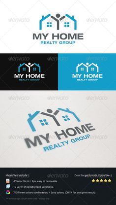 Home Realty Group Logo This logo is perfect for real estate business, mortgage agent, any propertise related business that can bring warm effect with client because of the logo concept it self. More Exclusive Logo Collections Created: Real Estate Logo, Real Estate Business, Logo Design Template, Logo Templates, Business Logo, Business Card Design, Restaurant Logo, Building Logo, Flat Logo