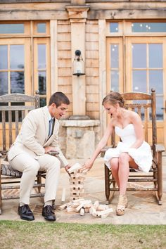 Games at a playful reception!