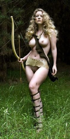 Think, Sexy nude female archers