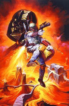 boba fett and darth vader art painting Sony Xperia Z case cover Star Wars Art, Star Trek, Starwars, Star Wars Boba Fett, Jango Fett, Star Wars Images, Batman, Love Stars, Cultura Pop