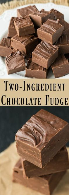 Traditional, old-fashioned stovetop chocolate fudge is not that hard to make. This two ingredient chocolate fudge recipe is such an easy dessert recipe. Best fudge that anyone can make. Easy Cookie Recipes, Sweet Recipes, Easy Recipes For Desserts, Cool Recipes, Family Recipes, Boil In A Bag Recipes, Easy Christmas Baking Recipes, Easy No Bake Recipes, Christmas Deserts Easy