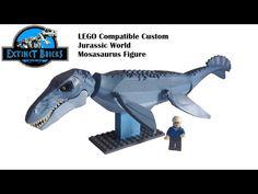 LEGO Compatible Custom Jurassic World Mosasaurus Figure - YouTube Lego Jurassic Park, Jurassic World Dinosaurs, Jurassic Park World, Dragon City, Power Rangers, Legos, Lego Motorbike, Lego Dino, Pokemon Craft
