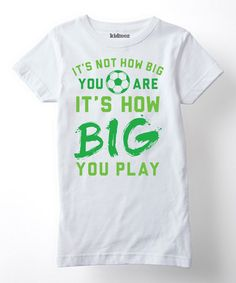 Look what I found on #zulily! White 'How Big You Play' Fitted Tee - Girls #zulilyfinds