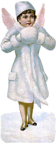 Victorian Scrap Angel Image