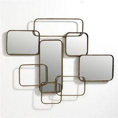 Miroir mural Dédale AM.PM : prix, avis & notation, livraison. Ce miroir mural, composé de 4 miroirs soudés dans une armature métallique, habillera votre mur d'un esprit fifties, très graphique. Crochets pour fixation murale. L.85 x P.4 x H.45 cm.
