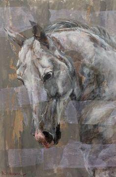 """Saatchi Art Artist Ola Neumann; Painting, """"STALLION"""" #art"""