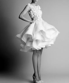 LITTLE WHITE DRESS - this is gorgeous! I could never wear this shape but it is soooo pretty.