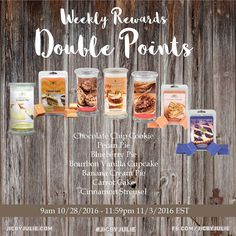 Earn double rewards points towards free jewelry with these select scents. jicbyjulie.com  #jicbyjulie #rewards #jewelry #jicnation  #desserts #yummy