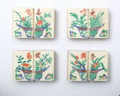 Butterflies often appear on Mahjong tiles but they can be hidden