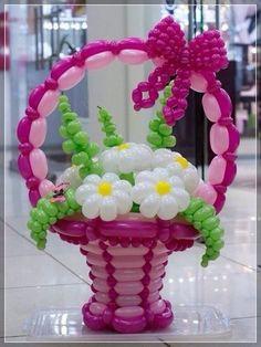 20 decoraciones de flores con globos