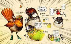 空条チュン太郎に文鳥院!?「ジョジョの奇妙な冒険」のキャラクターを小鳥化したイラストが話題   ARTIST DATABASE