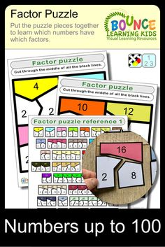 Factor puzzle by BounceLearningKids - Teaching Resources - Tes Visual Learning, Kids Learning, Learning Resources, Classroom Resources, Educational Activities, Math Activities, Fun Puzzle Games, Teacher Tools, Addition And Subtraction