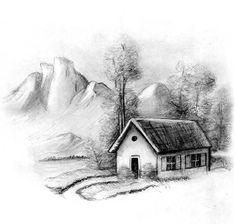 desenhos de casas antigas - Pesquisa Google