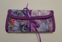 Crochet Hook Case Purple Lavender Pink Blue White Quilted Case Quilted Bag by RoxannasBags on Etsy