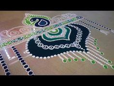 Beautiful Rangoli Decoration and Designs with colours - Easy Rangoli by Maya ! - YouTube