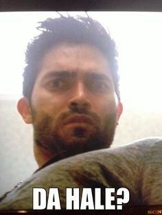 I have always noticed and loved this expression on Derek