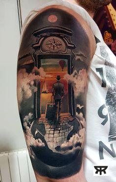 71 Amazing Travel Tattoo Ideas to Fuel Your Wanderlust Inked Magazine, Custom Tattoo, Tattoo Artists, Cool Tattoos, Body Art, Tattoo Designs, Cool Stuff, Travel Tattoos, Dublin