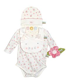 Look at this Bunnies by the Bay Kitty Cuddle Me Apparel Bodysuit Set - Infant on #zulily today!