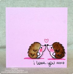 Created by design team member Jenn Shurkus with our Hedgehog Kiss stamp set