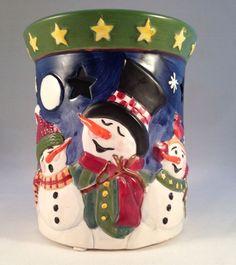 Yankee Candle Christmas Snowman Tart Wax Melts Tealight Warmer Burner Snowmen   http://ebay.to/1MkkL4b