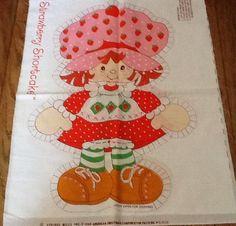 Vintage Strawberry Shortcake Fabric Panel Pillow Uncut | eBay