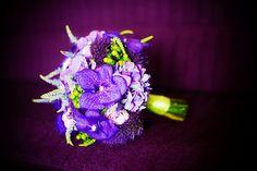 My bouquet! :)   purple green wedding