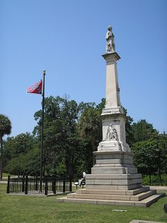 Confederate soldier monument on state capitol grounds, Columbia, South Carolina