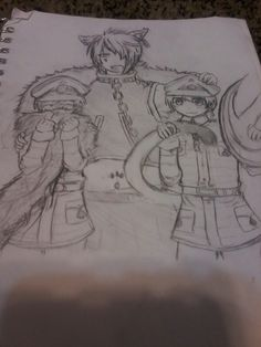 Yes, I drew this, but no, it was not my own original idea. This is from book 1, season 1 of the Manga 'Alice in the Country of Hearts'. [ My favorite Manga series ] *Tweedle Dee/Tweedle Dum/Boris* (( ♥ if u like it! )) (( comment if u don't and I will try to fix my mistakes! ))