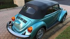 1979 River Blue VW Beetle Convertible. Mecum Auctions Lot K135.1 Kissimmee, Florida, January 6 – 15, 2017 Source: HIGHLIGHTS 11,810 actual miles Original Continental tires River…
