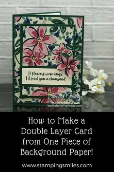 456 best handmade greeting cards images on pinterest in 2018 there are some patterns of background paper that are so attractive to be used alone for handmade greeting cards i wanted to use one of the patterns from m4hsunfo