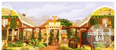 Meisiu's Cactus Cantina Bar• §151,935 | 40 x 30  • Bar + Hangout spot  CC free but I own all the packs.  EA ID: vicky1qa | Tray files |  Donate?
