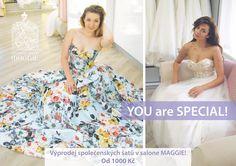 Neuvěřitelný výprodej společenských šatů v Svatebním salone MAGGIE…