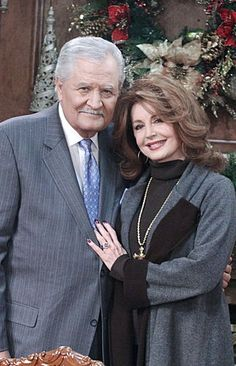 """John Aniston and Suzanne Rogers (Victor Kiriackis and Maggie Horton) - """"Days of Our Lives"""" - NBC Days Of Our Lives, Day Of My Life, Our Life, Soap Opera Stars, Soap Stars, John Aniston, Famous Couples, That Way, Picture Photo"""