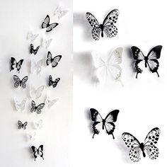 Fancy Haimoburg er Set D Schmetterling Aufkleber Wandsticker Wandtattoo Wanddeko f r Wohnung Raumdekoration pc