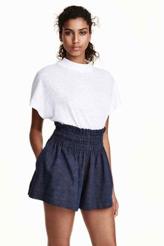 Pantalón corto de lino | H&M