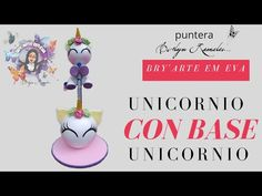 UNICORNIO con base UNICORNIO 🦄 - YouTube Foam Crafts, Clay Charms, Polymer Clay, Holiday, Fun, Base, Youtube, Pens And Pencils, Ideas
