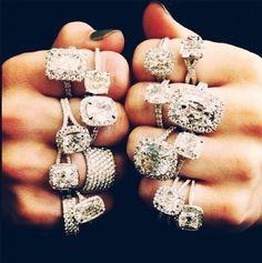 Love every single one (except very top right) #wedding #ring | http://bestromanticweddings.blogspot.com
