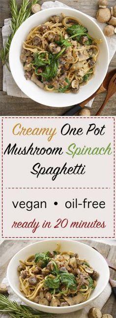 The Tasty K   Mushroom Spinach One Pot Pasta   http://thetastyk.com