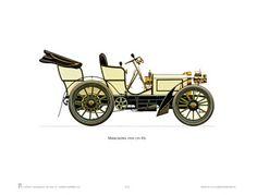 Antique Car Print #3 - 1900 Mercedes