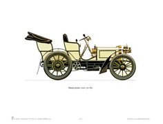 Antique Car Print #3 - 1900 Mercedes