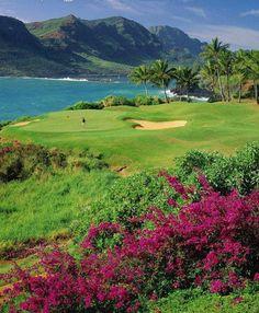 golf course lagoons marriott kauai
