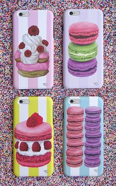 New macaron & French pastry designer iPhone cases. Exclusively by PLIA Designs. Protect your iPhone in the sweetest cases. 2-in-1 cases designed for impact. Innovative technology meets superb design.  #macarons  Shop the collection today: http://www.pliadesigns.com/designer-iPhone-cases.html