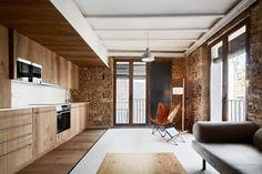 Un appartamento dal sapore rustico a Barcellona