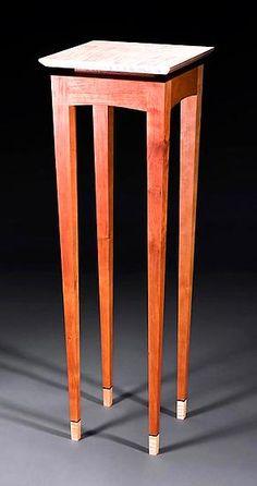 Y2K Pedestal: Bayley Wharton: Wooden Pedestal - Artful Home