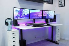 DIY Computer Desk Ideas Ways To Decorate A trident x gaming desktop to refresh your home Gaming Desk Setup, Best Gaming Setup, Gamer Setup, Diy Computer Desk, Pc Setup, Gaming Computer, Deco Gamer, Home Office, Game Room Design