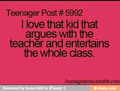 That kid...science class
