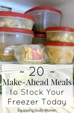 Prepare for an upcoming pregnancy, bring a meal to a friend in need or make the most of your busy week with your family with these 20 freezer meal recipes.