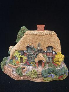 "Lilliput Lane Honeysuckle Cottage 1992 10th Anniversary 3-3/4"" Tall"